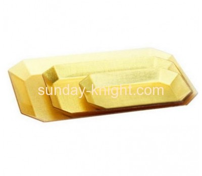 golden acrylic catering displays tray HCK-001