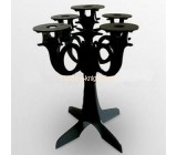 Black acrylic candle display with 6 holders HCK-005