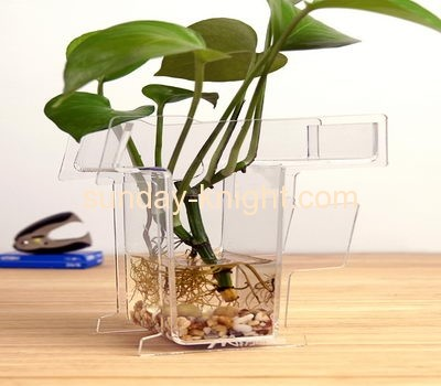 Square acrylic raise pot AHK-003