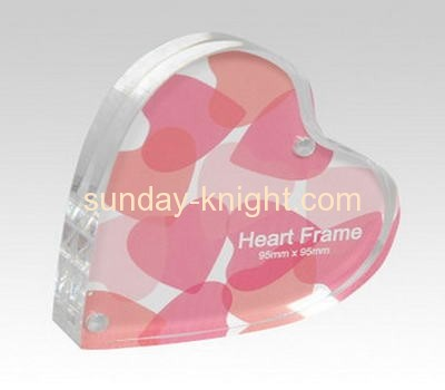 Acrylic heart shape picture frame APK-004