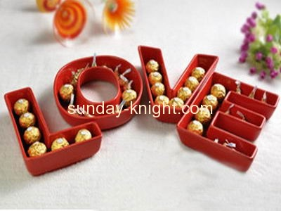 acrylic letter shaped candy dishes fsk 003