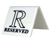 Acrylic reservation sign HCK-008