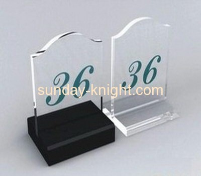Customize acrylic table number sign HCK-006