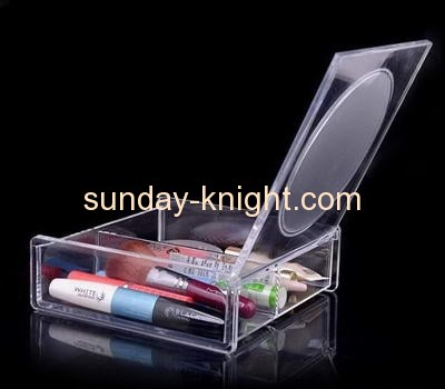 Acrylic cosmetics storage box with lid MDK-012