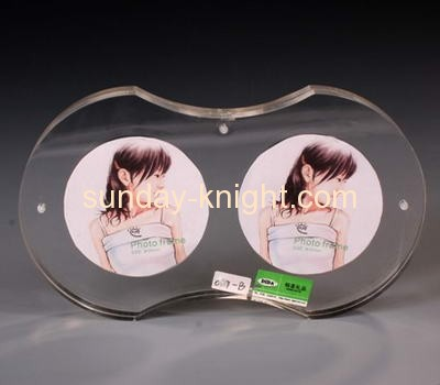 Acrylic photo frame with two photos displays APK-008