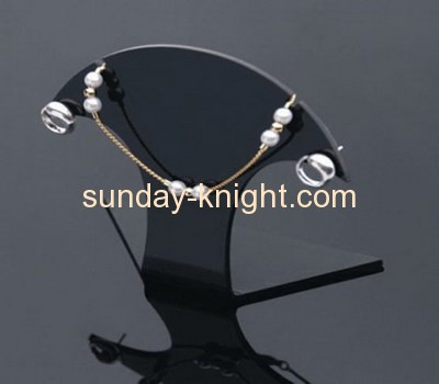 Black acrylic earring and necklace display stand JDK-013