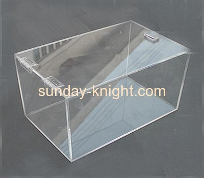Square clear lucite food display case FSK-019