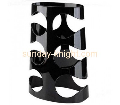 Black acrylic display stand with 6 wine bottles holder WDK-016