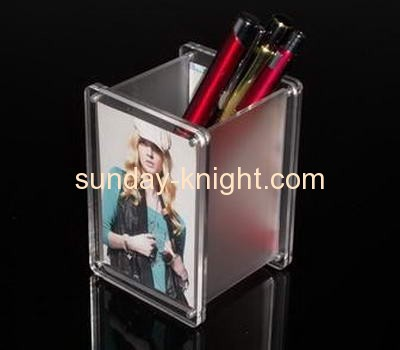 Acrylic picture frame with pen holders APK-017