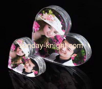 Heart shape clear acrylic photo frame APK-018