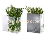 Clear square acrylic flower vase AHK-019