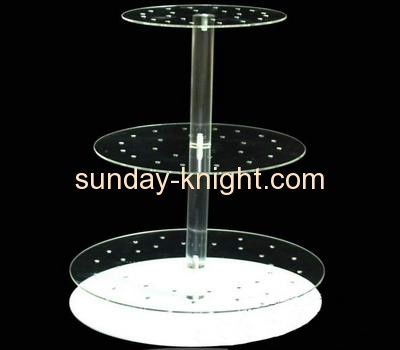 Three tiers clear acrylic cake display stand FSK-022