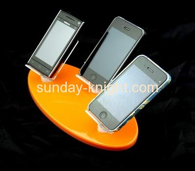 Acrylic cell phone display holder with three holders CPK-019