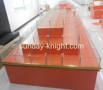 China acrylic manufacturer custom made acrylic cabinet for food display FSK-032
