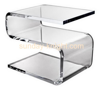2016 new design Z shape cheap clear acrylic size coffee table AFK-033