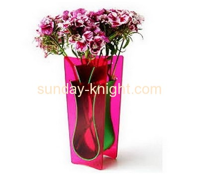 Factory price clear acrylic glass flower decoration vase AHK-031