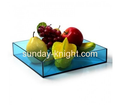 Fashion design top quality clear acrylic plastic tray for fruit FSK-033