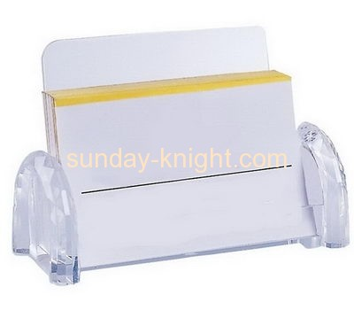Plastic acrylic business name card holder BHK-034