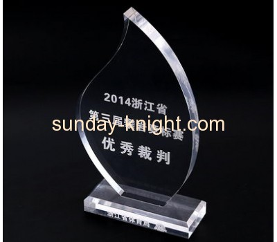 Custom acrylic crystal awards plaques crystal trophy sports medal ATK-022