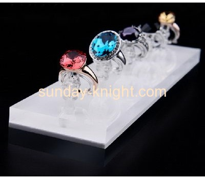 Wholesale acrylic logo block ring display tray jewellery counter display JDK-046