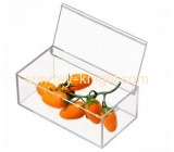 Factory custom design transparent food box food acrylic display case  acrylic display box FSK-054