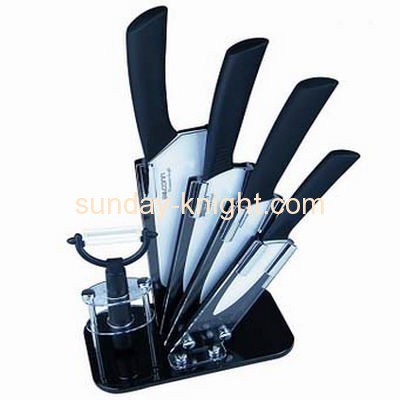 Customized acrylic knife display stand knife display knife holder ODK-035