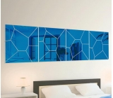 Hot selling acrylic mirror sticker wall sticker 3d mirror sticker MAK-088