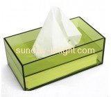Fashion design plastic box clear plexiglass acrylic square box mini tissue box DBK-083