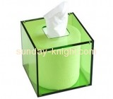 Customized acrylic tissue box round tissue box large plastic box DBK-085