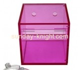 Custom acrylic wall mounted tissue box holder plexiglass acrylic rectangle box custom box DBK-090