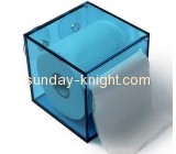 Factory direct sale acrylic plastic tissue box clear plastic box wall mounted acrylic display box DBK-094