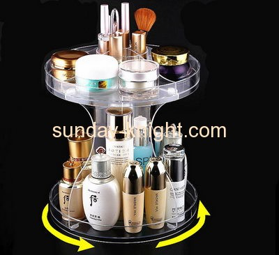 Hot sale acrylic plastic display stands rotating display stand countertop display rack MDK-088