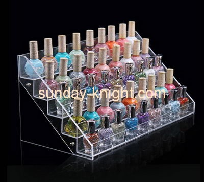 Acrylic display stand manufacturers direct sale acrylic cosmetic rack display nail polish storage rack MDK-091