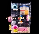 Acrylic boxes suppliers customize large all plastic syrian hamster cages for sale PCK-103