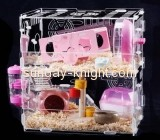 Acrylic plastic supplier customize top perfect hamster cages PCK-104