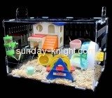 Display case manufacturers customize cheap plastic big hamster cages PCK-110
