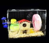 China acrylic manufacturer customize plastic display boxes recommended hamster cages PCK-116