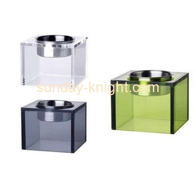 Acrylic products manufacturer customize tealight candle holders stand ODK-040