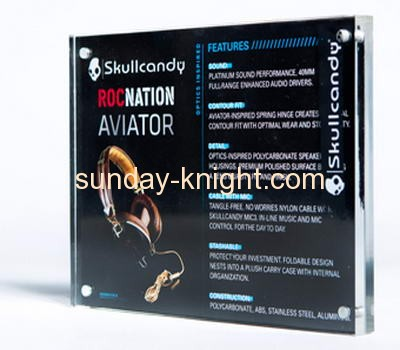Acrylic products manufacturer customize acrylic block frames display signs ODK-064