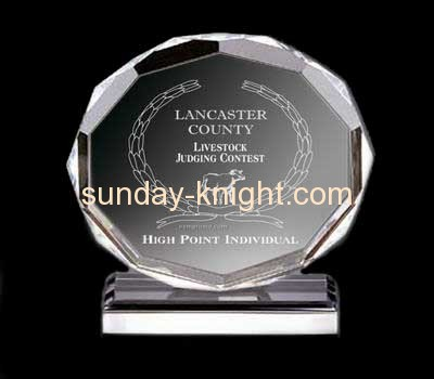 Round clear acrylic awards and trophies  ATK-011