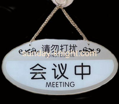 Acrylic meeting sign with hanging chain ODK-013