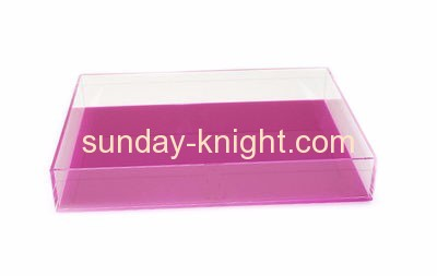 Acrylic factory customize food serving tray holder ODK-092