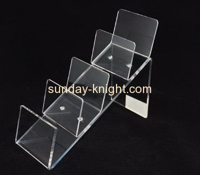 Acrylic display factory customized acrylic wallet riser display stand ODK-139