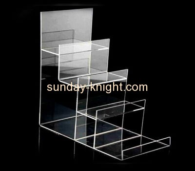 Display stand manufacturers customized step riser wallet display stand ODK-171