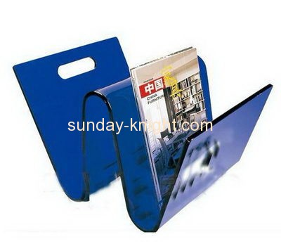 Custom design acrylic brochure holder book stand holder clear plastic document holder BHK-056