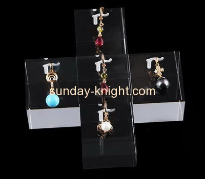 Acrylic plastic supplier customized jewelry earring display holder stands JDK-325