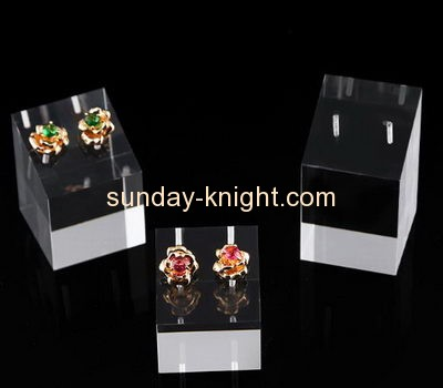 Perspex manufacturers customized retail display risers earring holder stand JDK-330