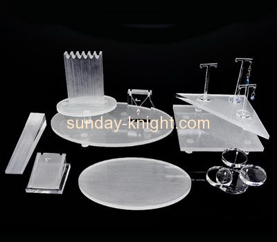 Acrylic manufacturers customized acrylic retail jewellery display stands JDK-385