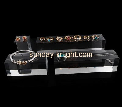 Shop display stands suppliers customized acrylic retail jewellery display stands blocks JDK-397