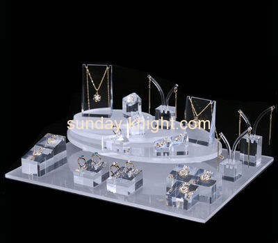 Perspex manufacturers customized acrylic jewelry retail display JDK-414